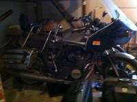 2 Touring style bikes with fairings, luggage racks,