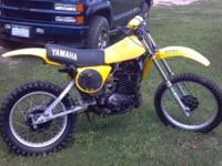 1977 Yamaha YZ400 Two stroke. Needs very little work.