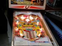 1977 D Gottlieb Co Bronco Pinball Machine Great