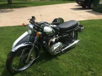 1977 Triumph Bonneville 750 with sidecar. The list of