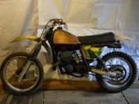 FOR SALE 1978 1/2 Suzuki RM250 vintage motocross