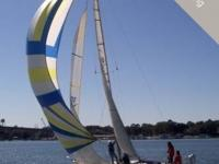 This beautiful sailboat is a perfect boat for racing or