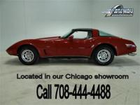 1978 Red Chevrolet Corvette. This Corvette is powered