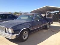 HERE IS A 1978 CHEVY EL CAMINO WITH A 6 CYL ENGINE AND