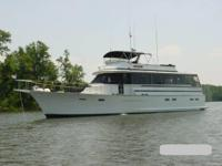 1978 Chris Craft Roamer. This is a rare lovely 62 foot