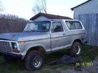 1978 Ford Bronco(NO TITLE-could apply for one) with