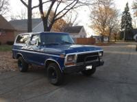 1978 Ford Bronco 4x4 61,700 ORIGINAL MILESthis truck