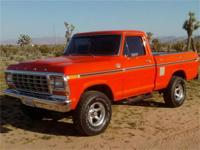 1978 Ford F-150 Ranger XLT 4x4 Shortbox. Lifelong