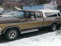 1978 Ford 4x2 extremely cab camper special pick-up with