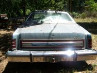 1978 Ford LTD run in 2000 when it was parked has not