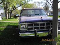 1978 GMC 3/4 ton pick up with original 454 engine ;