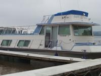 This Nauta-Line houseboat is powered by twin 350's with
