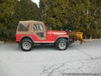 Here is a cool old Jeep. This one owner CJ5 has 81k