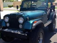 1978 CJ5 with rebuilt 258 motor. 4 speed transmission