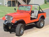 1978 CJ7 - Rebuilt AMC360, 4 speed, new performer cam,