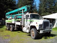 1978 Mack R686ST Concrete Pumper Truck. This truck runs
