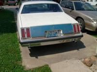 2dr, 2 tone blue and white, v8, automatic, runs and