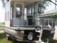 Description MUST SEE 24 foot pontoon boat w/8 x 12
