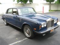 1978 Rolls-Royce Silver Shadow. Right hand drive. Royal