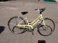 "1978 Schwinn Breeze  26"" yellow 3-speed Girls bike  TRI"