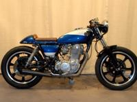 HIGHLY DESIREABLE 1978 YAMAHA SR500 THUMPER CAFE RACER