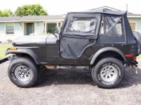 1978 Jeep CJ5 4x4. 304 engine. 3 speed transmission.