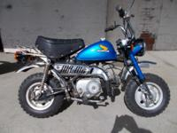 For Sale Honda Monkeybike z50j.Has new blue metal flake