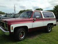 1979 Chevrolet Blazer K5 Classic Truck V8 engine with