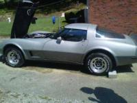 Bright and Lustrous Silver 79 Chevrolet Corvette in