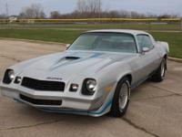 1979 Camaro Z28, Silver exterior w/ light blue