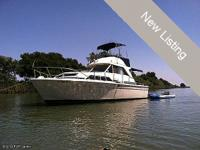 1979 Chris Craft 33 Catalina flybridge. She is a