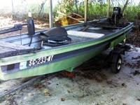 Up for sale is a 1979 Desoto 14 ft jon boat with a 1983