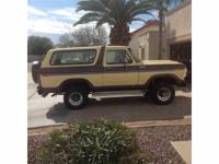 Year : 1979 Make : Ford Model : Bronco Exterior Color :
