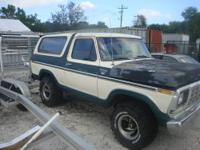 1979 FORD BRONCO FULL SIZE. HAS BIG BLOCK 460 MOTOR.