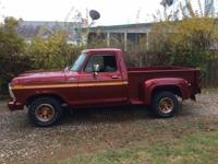 Year : 1979 Make : Ford Model : F100 Exterior Color :