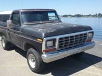 classic clean 79 ford f150 Ranger 4x4 shortbox truck,