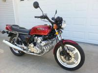 This is a 1979 Honda CBX 1000 six cylinder with a very