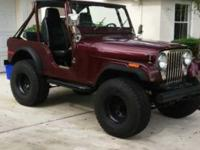 Rare lifted jeep cj5 great condition original amc v6