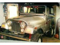 1979 CJ7 Silver Anniversary model Jeep. 304 V-8,