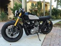 This bike has been completely restored and modified to