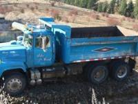 Mack RL600L dump truck, ENDT676A Diesel Engine @285 Hp.