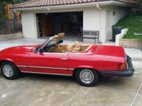 This is a classic 1979 Mercedes-Benz 450SL that is in
