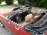 1979 Cherry Red MG Midget. 52K miles, in excellent