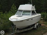 The 1979 Sea Ray 240 CC is a fishing device, one of the