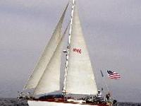 A classic Bob Perry designed canoe-sterned cruiser,