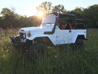1979 Toyota Land Cruiser FJ40 White. Full frame off
