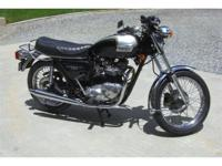 This restored, show winning 1979 Triumph 750 Bonneville