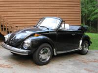 Partially restored 1979 VW convertible - with in last 9