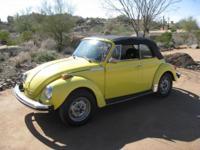 1979 Yellow Volkswagen Super Beetle with tan interior