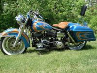 This 1979 Harley started life as an FX but was restored